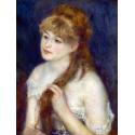Reprodukcje obrazów Young Woman Braiding Her Hair - Auguste Renoir
