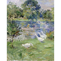 Girl in a Boat with Geese
