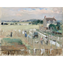 Reprodukcje obrazów Hanging the Laundry out to Dry - Berthe Morisot