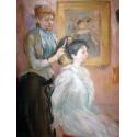 Reprodukcje obrazów La Coiffure - Berthe Morisot