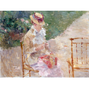 Reprodukcje obrazów Young Woman Knitting - Berthe Morisot