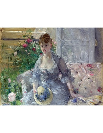 Young Woman Seated on a Sofa