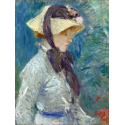 Reprodukcje obrazów Young Woman with a Straw Hat - Berthe Morisot