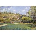 Reprodukcje obrazów A Cowherd at Valhermeil - Camille Pissarro