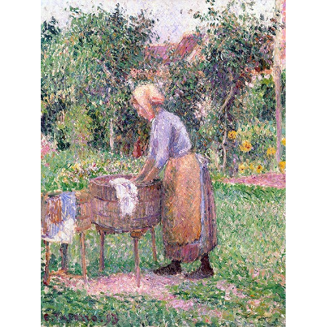 A Washerwoman at Éragny