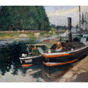 Reprodukcje obrazów Barges at Pontoise - Camille Pissarro