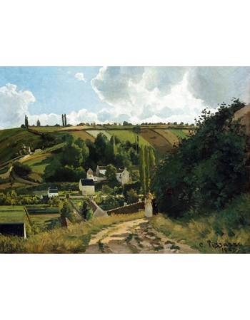 Reprodukcje obrazów Jalais Hill, Pontoise - Camille Pissarro