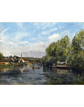 Reprodukcje obrazów La seoine a port-marly - Camille Pissarro