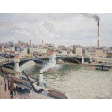 Reprodukcje obrazów Morning, An Overcast Day, Rouen - Camille Pissarro