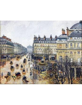 Reprodukcje obrazów Place du Théâtre Français - Camille Pissarro