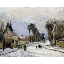 Reprodukcje obrazów Road to Versailles at Louveciennes - Camille Pissarro
