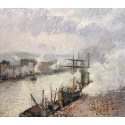 Reprodukcje obrazów Steamboats in the Port of Rouen - Camille Pissarro