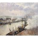 Reprodukcje obrazów Steamboats in the Port of Rouen - Camille Pissarro