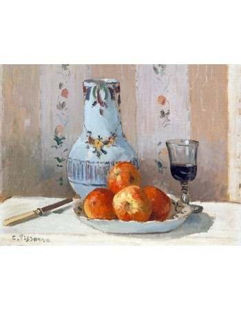 Reprodukcje obrazów Still Life with Apples and Pitcher - Camille Pissarro