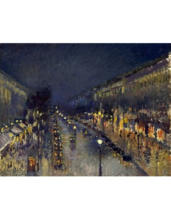 The Boulevard Montmartre at Night