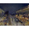 Reprodukcje obrazów The Boulevard Montmartre at Night - Camille Pissarro