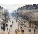 Reprodukcje obrazów The Boulevard Montmartre on a Winter Morning - Camille Pissarro