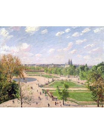 Reprodukcje obrazów The Garden of the Tuileries on a Spring Morning - Camille Pissarro
