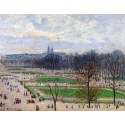 Reprodukcje obrazów The Garden of the Tuileries on a Winter Afternoon - Camille Pissarro