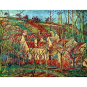 Reprodukcje obrazów The red roofs - Camille Pissarro