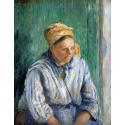 Reprodukcje obrazów Washerwoman, Study - Camille Pissarro