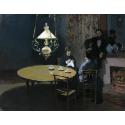 Reprodukcje obrazów Interior, after Dinner - Claude Monet