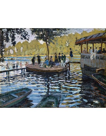 Reprodukcje obrazów La Grenouillère - Claude Monet