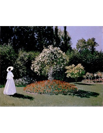 Reprodukcje obrazów Monet Claude-Woman in the Garden. Sainte-Adresse - Claude Monet