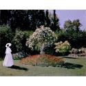 Reprodukcje obrazów Monet Claude-Woman in the Garden. Sainte-Adresse - Claude Monet
