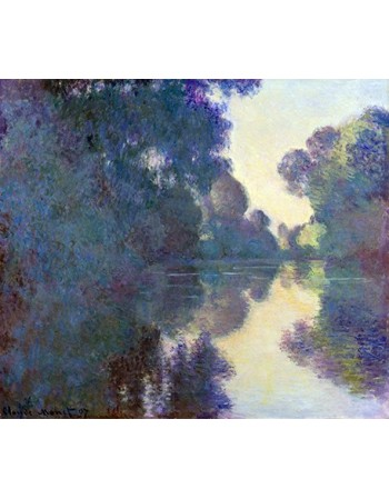 Reprodukcje obrazów Morning on the Seine near Giverny - Claude Monet