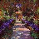 Reprodukcje obrazów Path in Monets Garden - Claude Monet