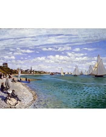 Reprodukcje obrazów Regatta at Sainte-Adresse - Claude Monet