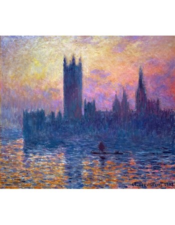 Reprodukcje obrazów The Houses of Parliament, Sunset - Claude Monet