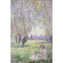Reprodukcje obrazów Woman Seated under the Willows - Claude Monet