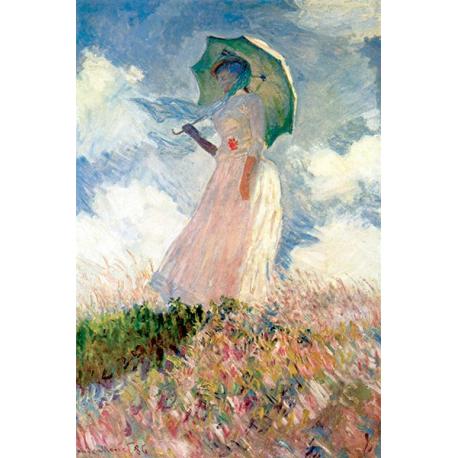 Woman with sunshade