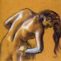 Reprodukcje obrazów Bather Drying Herself - Edgar Degas