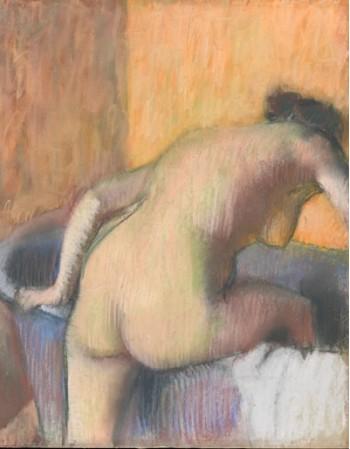 Reprodukcje obrazów Bather Stepping into a Tub - Edgar Degas