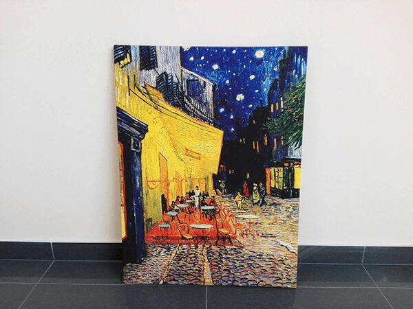 reprodukcje na płótnie fotoobraz Vincent Van Gogh cafe terrace at night